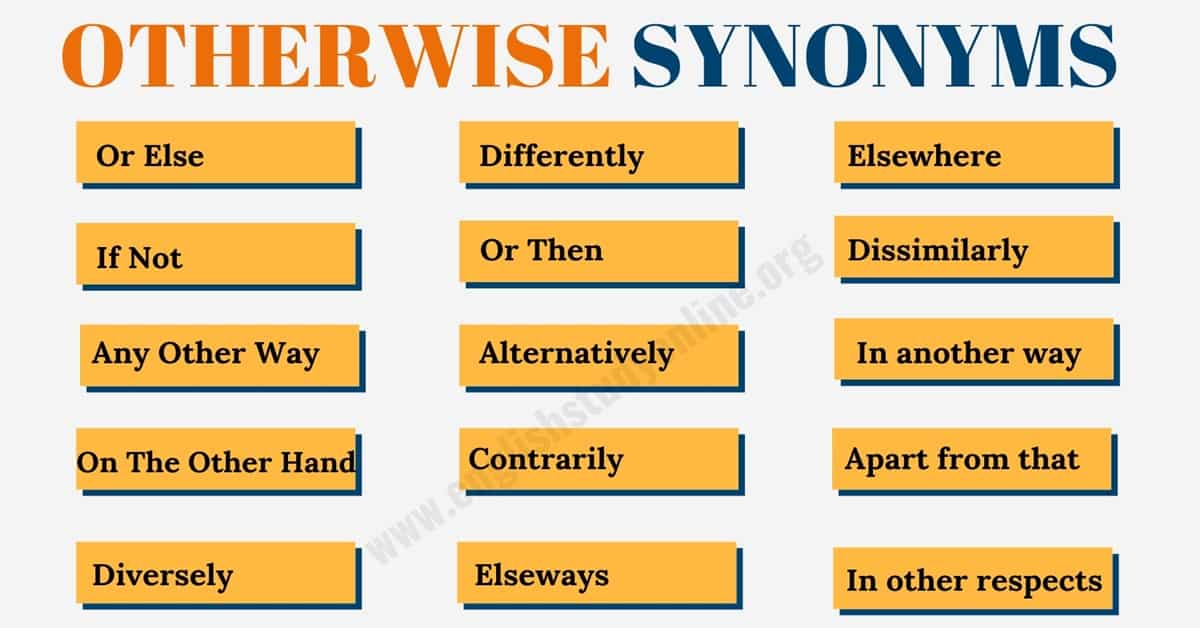 Another Word for Otherwise   15+ Useful Otherwise Synonyms in English 1