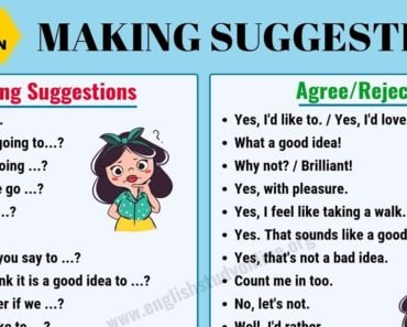Making Suggestions | Many Useful Phrases to Make Suggestions in English 4