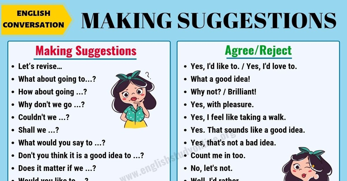 Making Suggestions | Many Useful Phrases to Make Suggestions in English 10