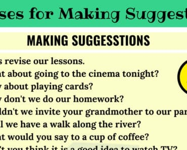 Common English Phrases For Making Suggestions 3
