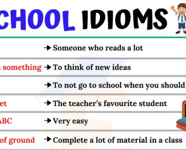 School Idioms | 10 Useful Idioms Relating to School for ESL Learners 3