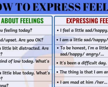 Different Ways of Expressing Feelings in English 6