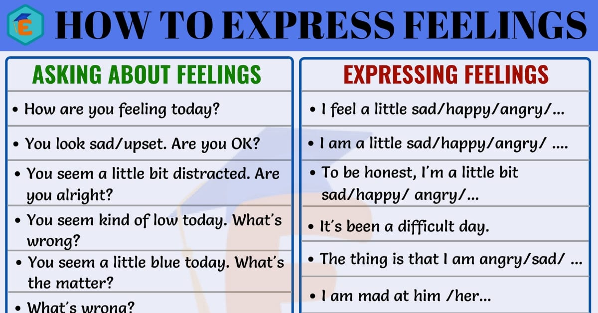 Different Ways of Expressing Feelings in English 1