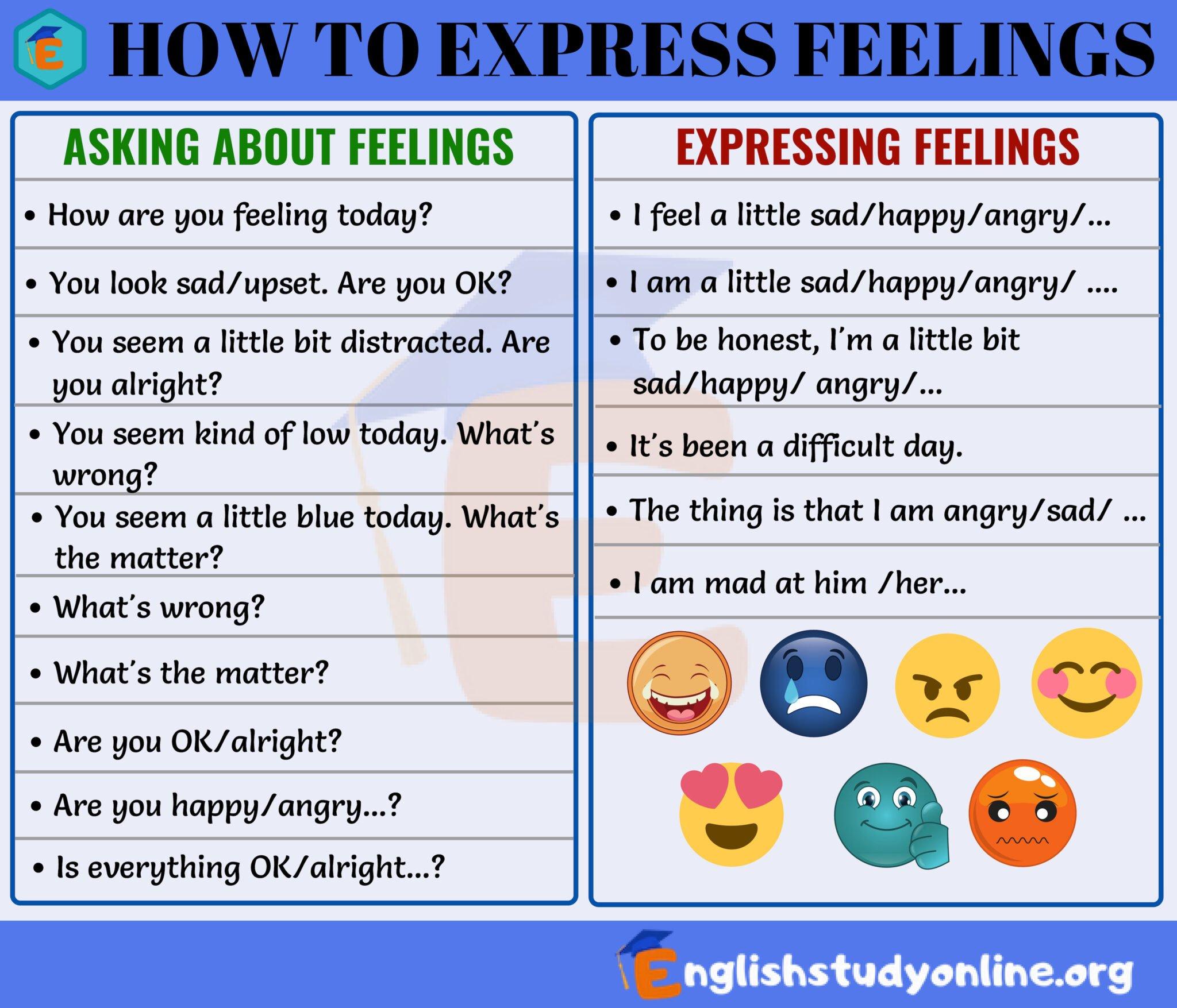 expressing feelings