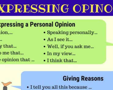 Useful Ways of Expressing Opinions in English 5