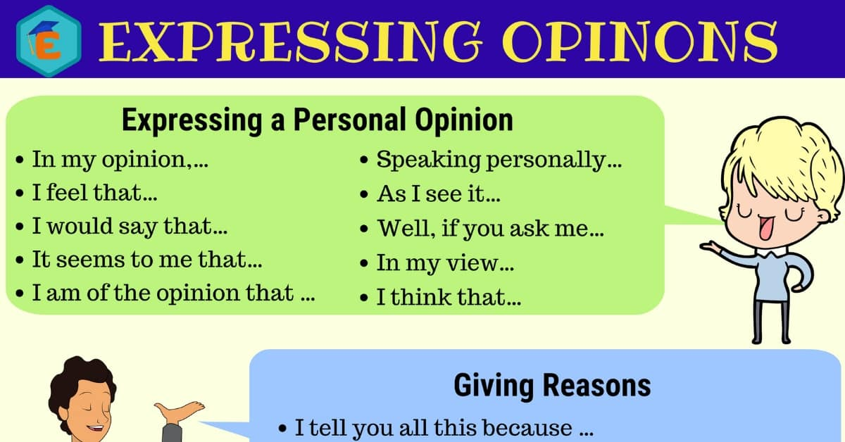 Useful Ways of Expressing Opinions in English 1