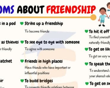 Idioms About Friendship | 40+ Popular Idioms and Proverbs about Friendships 5