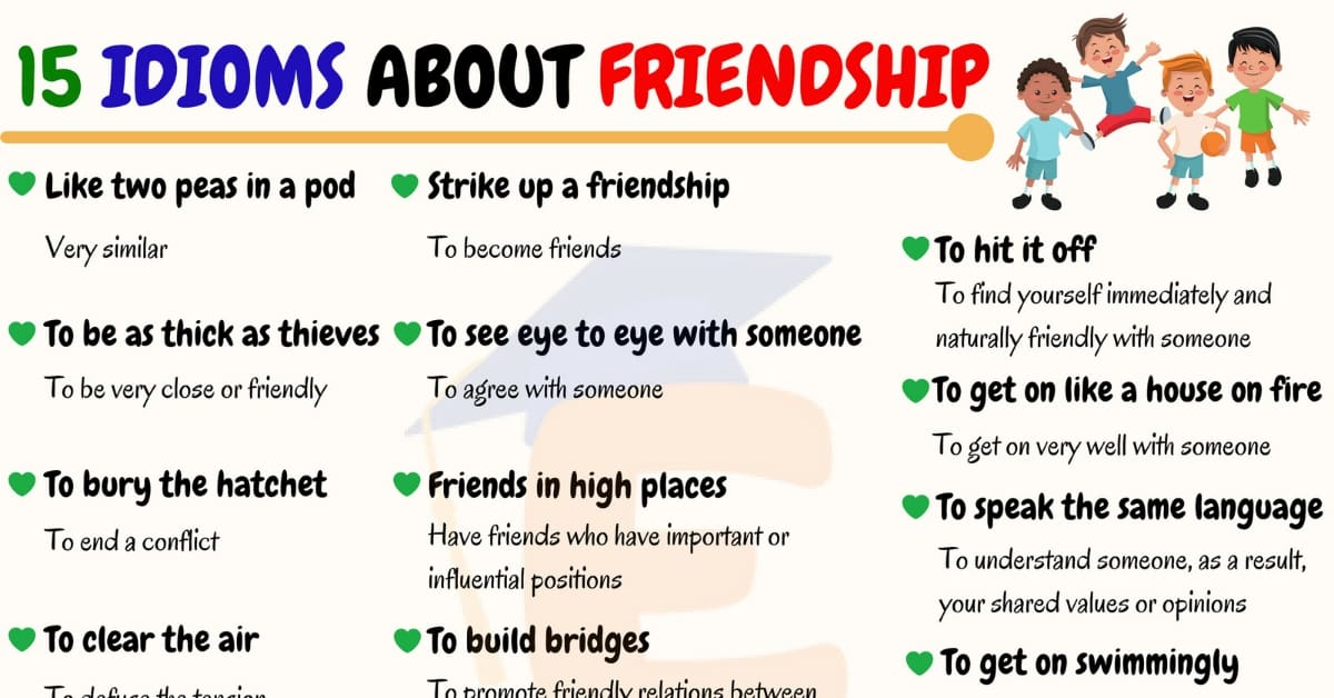 Idioms About Friendship | 40+ Popular Idioms and Proverbs about Friendships 1