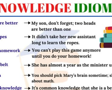 Useful Knowledge Idioms in English You Should Know 6
