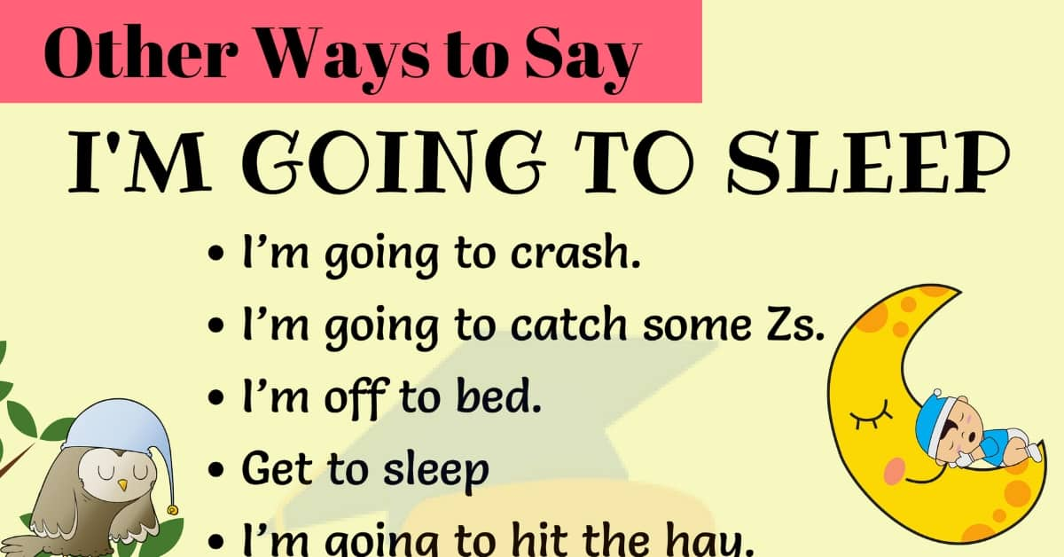 13 Useful Ways to Say I'M GOING TO SLEEP in English 1