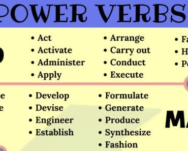 Power Verbs List in English You Should Know 6