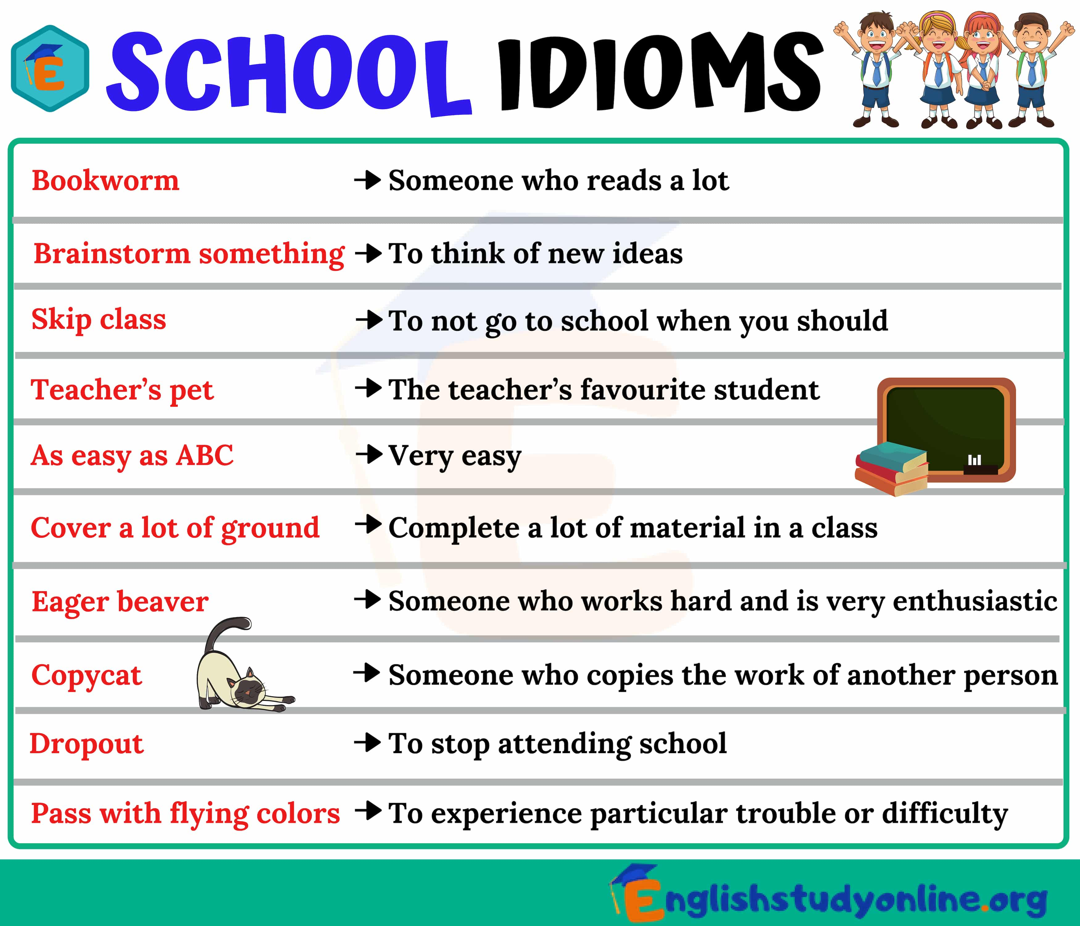 Image result for idioms for esl students