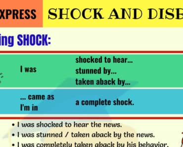 How to Express Shock and Disbelief in English 7