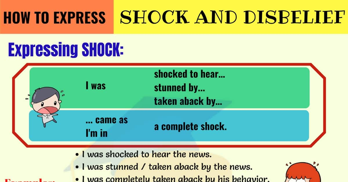 How to Express Shock and Disbelief in English 1