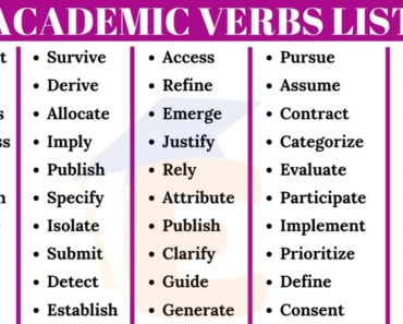 120 Most Important Academic Verbs in English 3