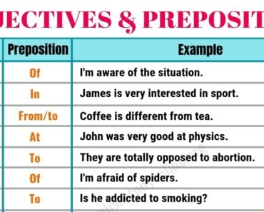 Collocation Examples | 60+ Powerful Adjectives and Prepositions 4