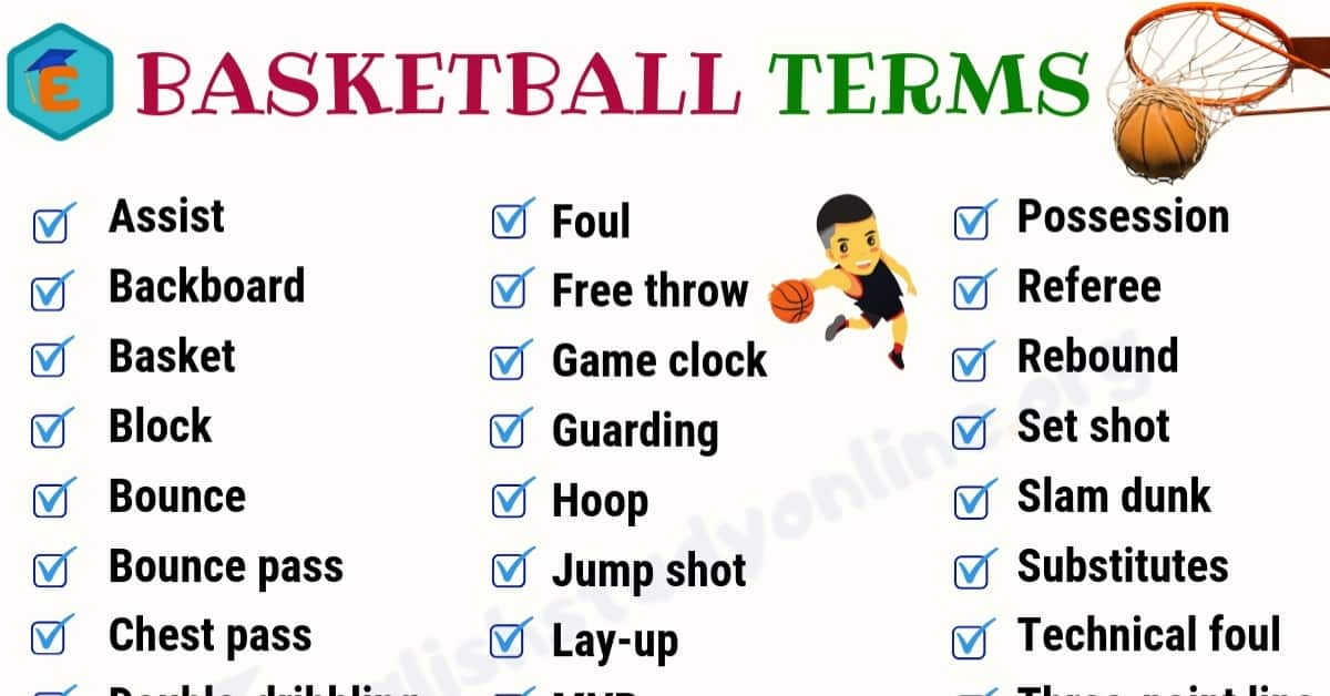 35+ Popular Basketball Terms with Meaning in English 1