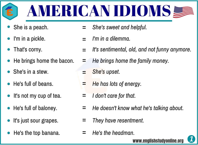 american idioms
