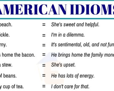 20+ Important American Idioms with Example Sentences 3