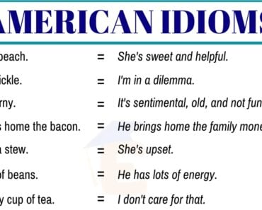 20+ Important American Idioms with Example Sentences 7