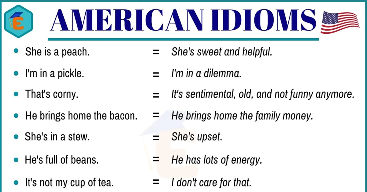 20+ Important American Idioms with Example Sentences 1