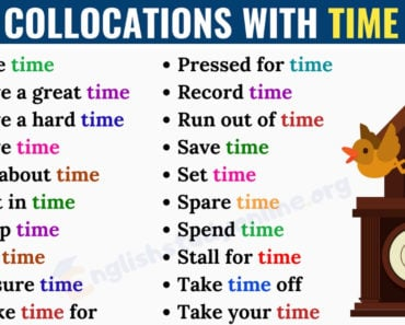 25+ Commonly Used Collocations with TIME in English 7