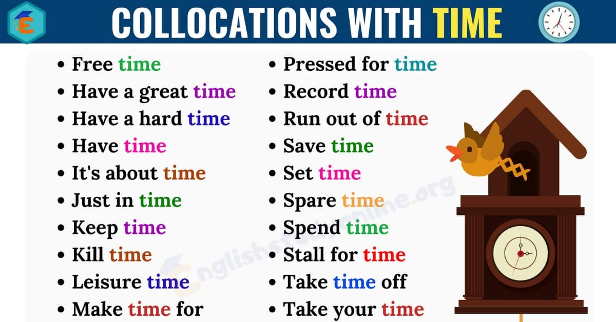 25+ Commonly Used Collocations with TIME in English 1