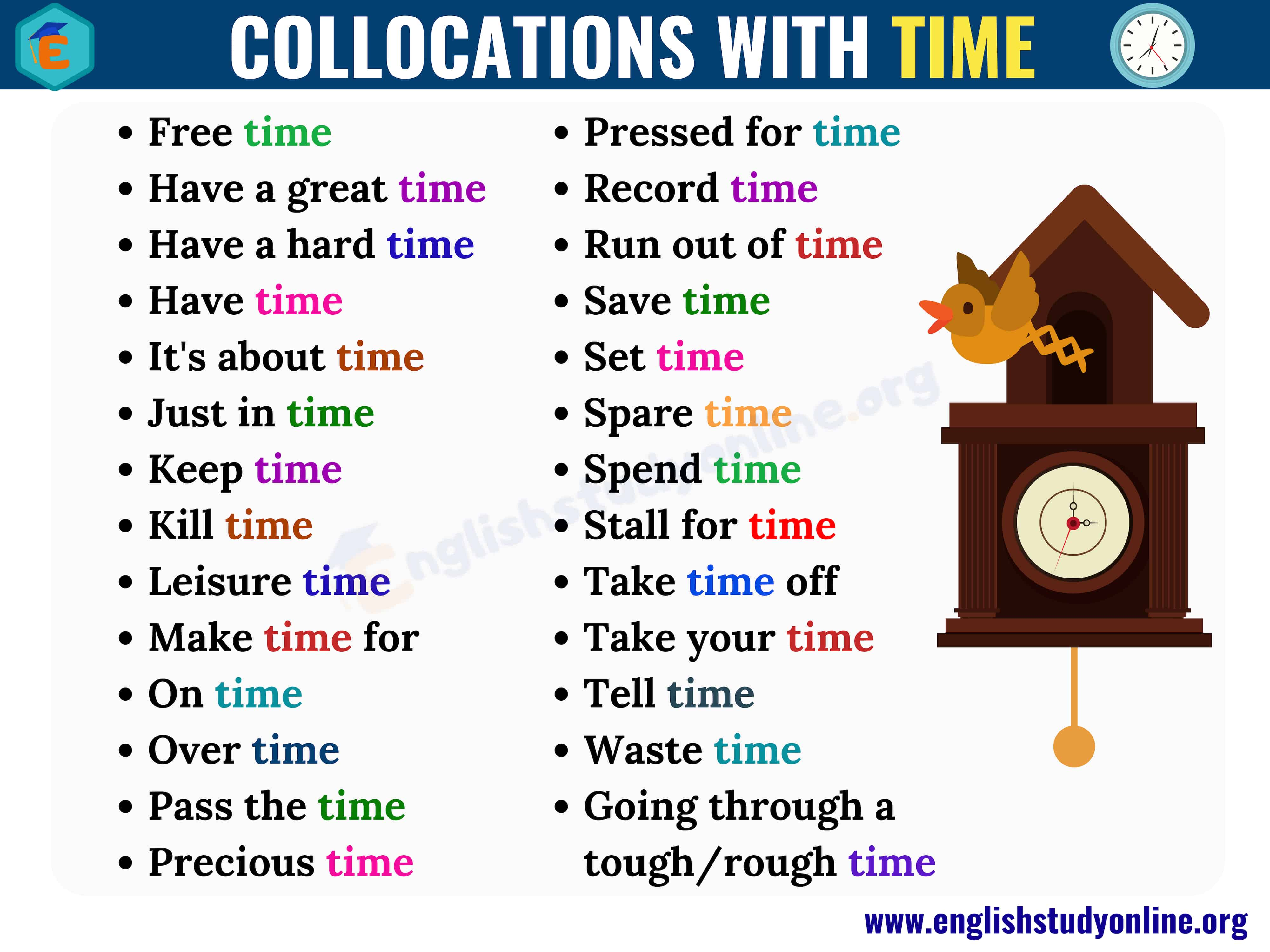 collocations with time
