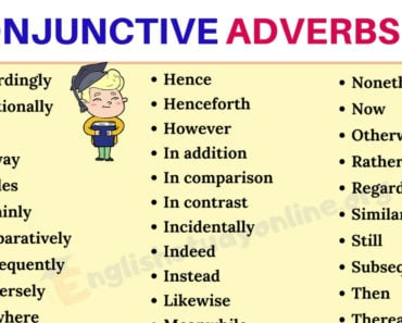 40+ Conjunctive Adverbs List in English for ESL Learners 2