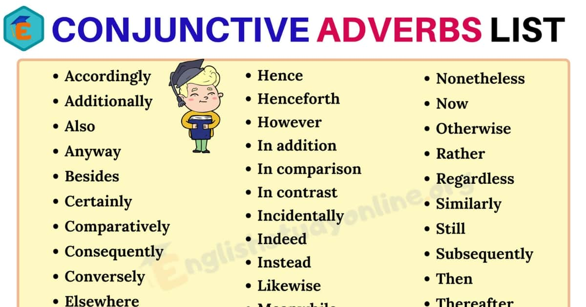 40+ Conjunctive Adverbs List in English for ESL Learners 3
