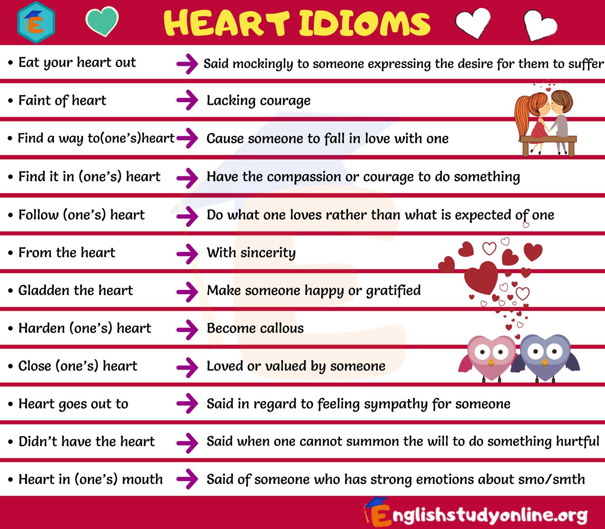 heart idioms