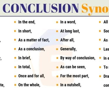 In Conclusion Synonym | 30+ Useful Synonyms for In Conclusion 7