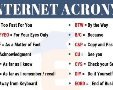 IMO Meaning | List of 70+ Popular Internet Acronyms in English 2