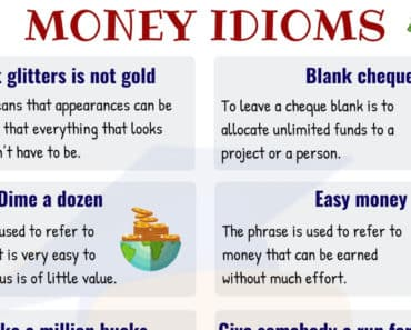 10 Useful Money Idioms with Meaning and Examples 3