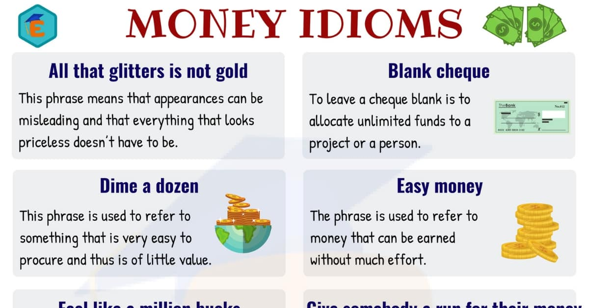 10 Useful Money Idioms with Meaning and Examples 1