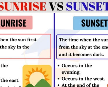 Sunrise vs Sunset: What's the Difference in English? 6