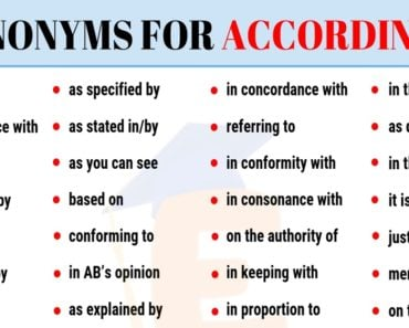 According to Synonym | List of 35+ Popular Synonyms for According to 7
