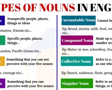 10 Types of Nouns That You Use All The Time 6