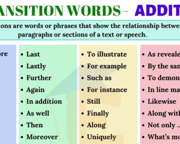 Transition Words/Linking Words - English Study Online