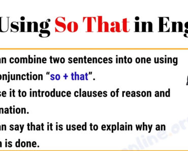 "How to Use ""So That"" in English 3"