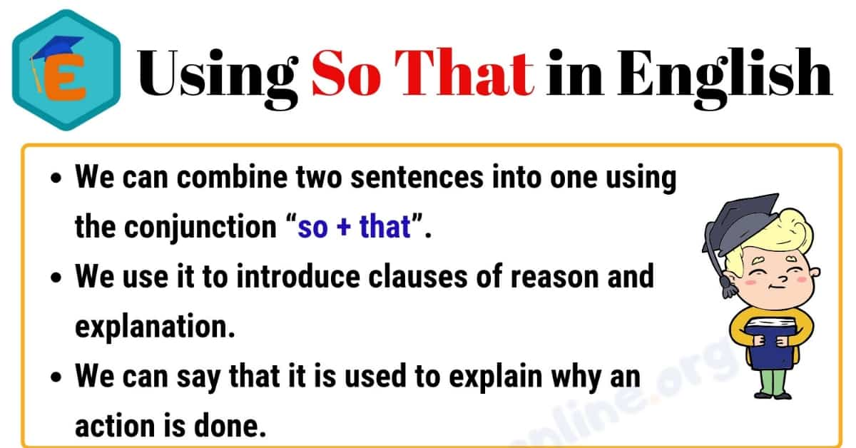 """How to Use """"So That"""" in English 1"""