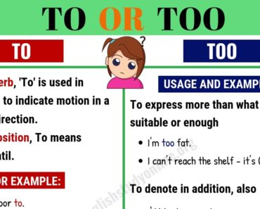 To vs Too: What is the Difference Between To and Too 6