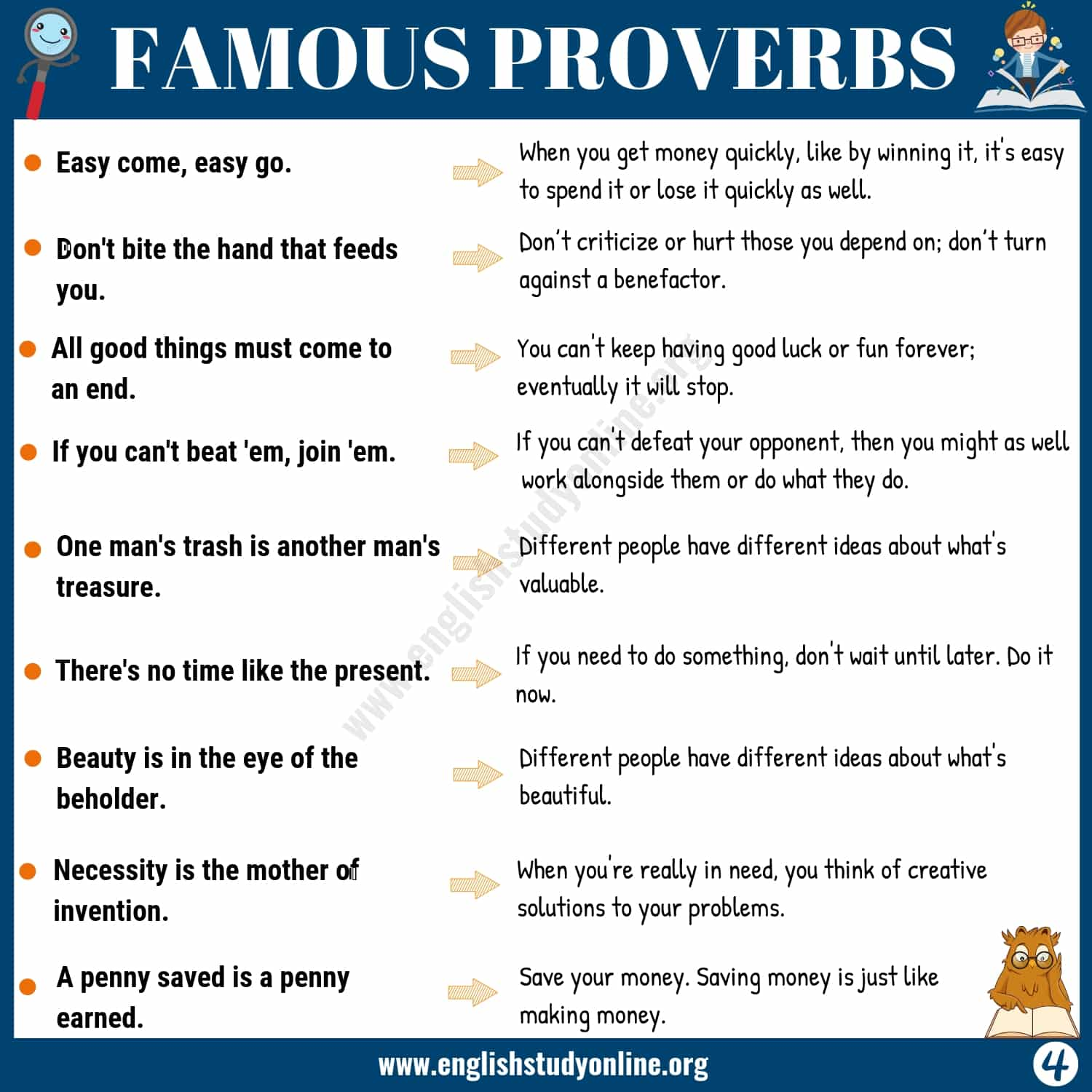 45+ Famous Proverbs with Meaning for ESL Learners - English