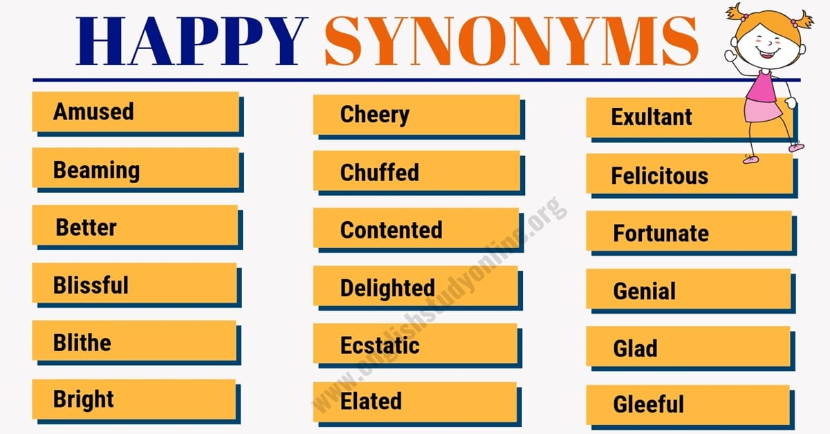 HAPPY Synonym: List of 50 Powerful Synonyms for Happy 1