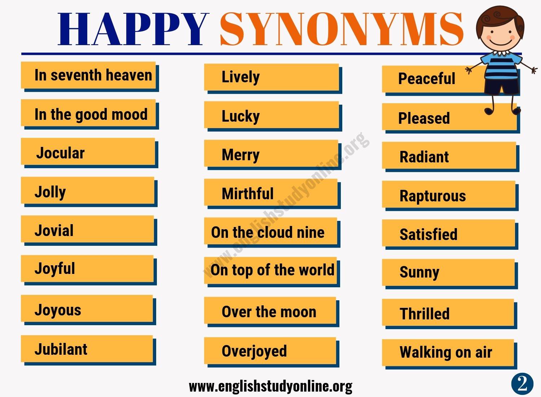 HAPPY Synonym