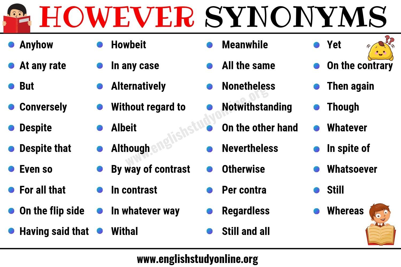 however synonym
