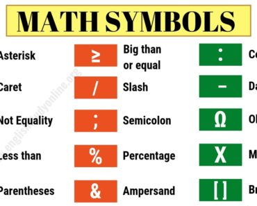 Math Symbols | List of 32 Important Mathematical Symbols in English 4