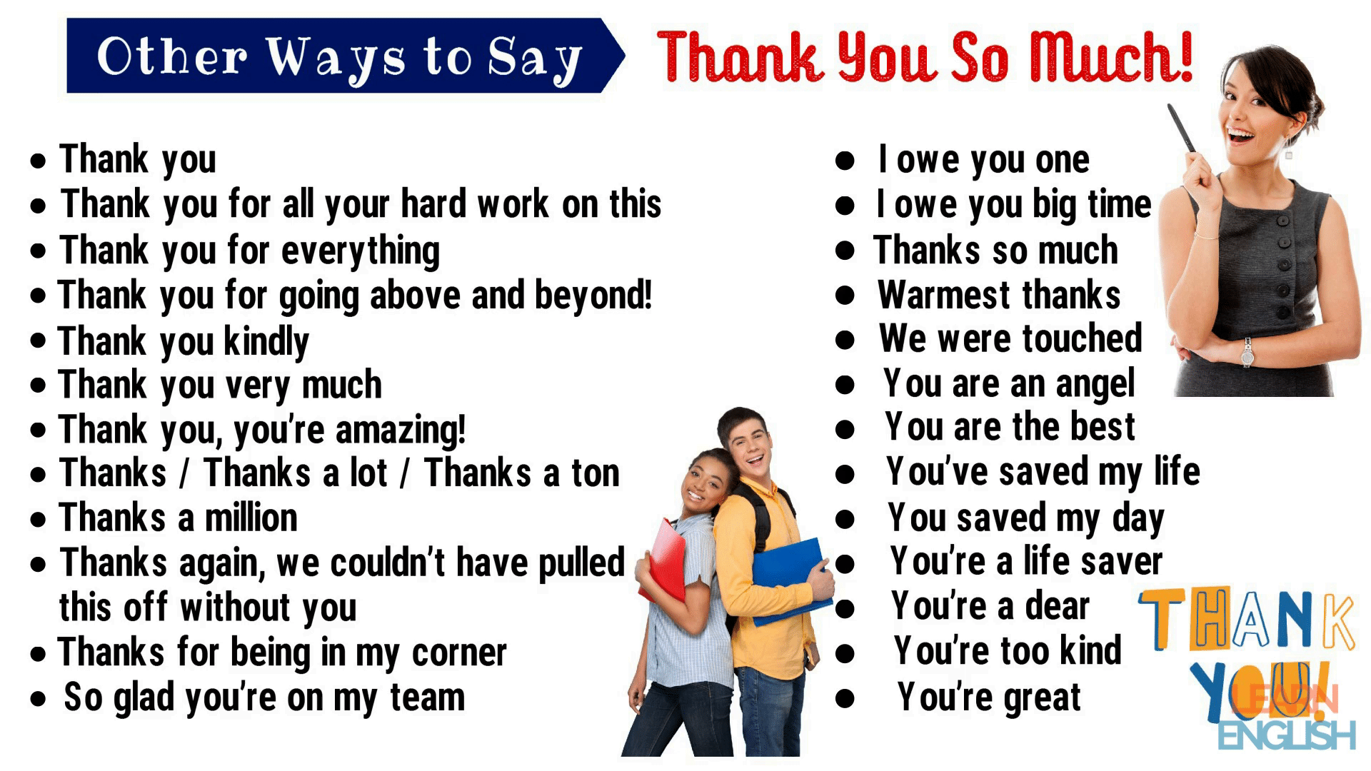Thank You Synonym | 45+ Powerful Synonyms for Thank You for ESL Learners 1