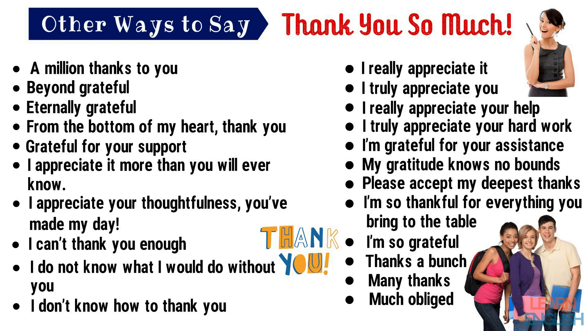 Thank You Synonym | 45+ Powerful Synonyms for Thank You for ESL Learners 2