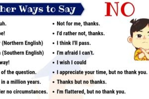 No Synonym | 60 Useful Ways to Say NO in English 10